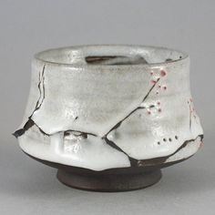 """Wood Fired Yunomi """"The Branch of Snow"""", Tea Bowl by Paul Fryman #yunomi#woodfired#ceramic #teabowl #ceramics #pottery #teaware http://etsy.me/2B5sv9W"""