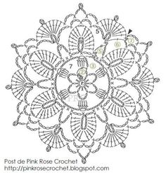 Crochet Flower Patterns Cool Flower - Pinkrosecrochet (chart) - Irish Crochet Flower Chart by Rose I'm always on the lookout for new motifs to use in Irish Crochet and this one caught my eye because it's a little like Venetian Crochet in design. Filet Crochet, Mandala Au Crochet, Crochet Circles, Crochet Flower Patterns, Crochet Diagram, Crochet Round, Crochet Chart, Crochet Squares, Thread Crochet