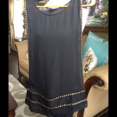 NEW LISTING ROCK &REPUBLIC sheer over top This piece is so beautiful it looks very nice over a black turtle neck or over a camisole in summer metal studs embellished worn only once Rock & Republic Tops Blouses