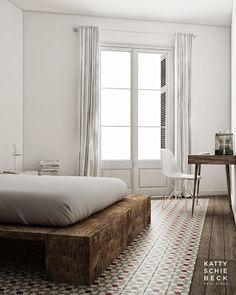 Platform Bed: Méchant Studio Blog: transition floor