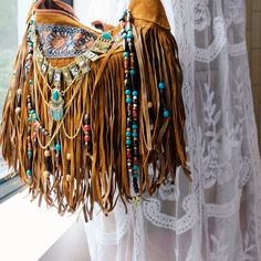 decorated gypsy style purse