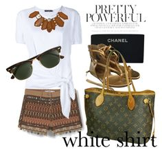 """""""white shirt #4"""" by cherryoblossom ❤ liked on Polyvore featuring MANGO, Dolce&Gabbana, Emporio Armani, Chanel, Louis Vuitton, J.Crew and WardrobeStaples"""