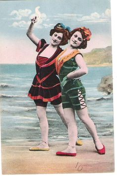 DANCING ON THE SEASHORE. VINTAGE POSTCARD.  THE HOKEY POKEY MAN AND AN INSANE HAWKER OF FISH BY CONNIE DURAND. AVAILABLE ON AMAZON KINDLE.