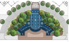 Waterfeature Plan --in front of one Club House