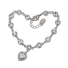 #BestGift for #MothersDay #HeartShaped #CharmBracelet  #Crystal #Bracelet #diamond #Jewelry #Jewels