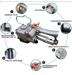 250.00$  Watch here - http://ali67c.worldwells.pw/go.php?t=32499028237 - AQD-19 Pneumatic strapping tool Pneumatic strapping machine 250.00$