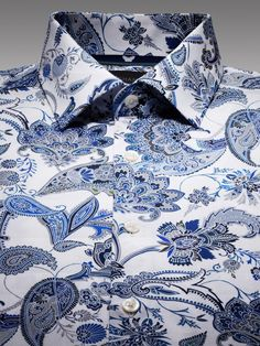 CREST PAISLEY PRINT SHIRT purchased in the smallest size for Mrs. Worthy...Mister Worthy can't have all of the Duchamp