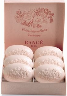Rance Tuberose Milled Soap -       Tuberose: An exotic full bodied tuberose. Includes 1 box of 6 specialized classic soaps. Box of 6 x 100g