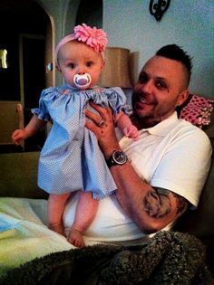 Justin Furstenfeld, blue october ...somebody's totally in love with a baby... ......awwwwwwwww, Justin Furstenfeld of Blue October and daughter,Sayde Belle and Daddy Justin and wife Sarah. (Lead singer for Blue October band