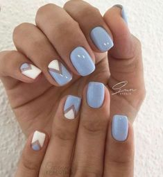 Today i'll show some French Manicure Nail Designs for you ! A French manicure is a chic, polished, and timeless look. What's a French Manicure Nail Design ? Beautybigbang offer French Manicure Nail Designs for 2018 ! New Nail Designs, White Nail Designs, Nail Designs Spring, Spring Design, Light Blue Nail Designs, Spring Nail Art, Spring Nails, Spring Art, Summer Toenails
