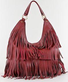 Girlfriends Fringe Hobo Handbag- Brandy by Girlfriends Gift Shop Chloe Brown 109c8cde27