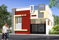 Single Floor House Front Design Individual Houses Modern Front Elevations Single Floor Home Single Floor House Design, Bungalow House Design, Small House Design, Modern House Design, Front Elevation Designs, House Elevation, Building Elevation, Latest House Designs, Cool House Designs