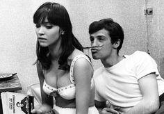 Anna Karina & Jean Paul Belmondo    Une femme est une femme (1961)
