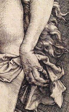 Albrecht Dürer, The Temptation of the Idler, or The Dream of the Doctor (detail), ca. 1498, engraving.