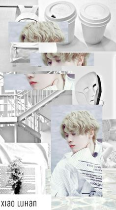 Luhan // wallpaper Collages, Exo Fan Art, Exo Ot12, Aesthetic Collage, Cute Backgrounds, Kpop, Aesthetic Wallpapers, Chanyeol, Aesthetics