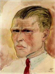 otto dix self portrait 1927 - Google Search