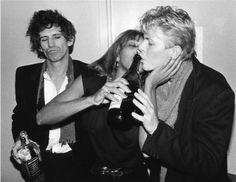 Keith Richards, Tina Turner & David Bowie Bob Gruen, 1983