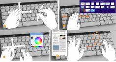 Microsoft Research demonstrează o tastatură care suportă gesturi  [VIDEO]