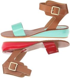 Kelsi Dagger Genna: $77.99, 21% OFF! MSRP 99.00, Free Shipping!  Unleash your inner style diva with these ferociously chic sandals! Adjustable buckle closure. Leather upper with contrasting straps. Man-made lining. Lightly cushioned man-made footbed. Subtle wedge midsole.