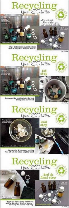 How to clean essential oil bottles (so that you can reuse them for future diy projects and blends)