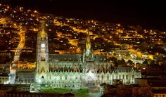 The Basilica of the National Vow (Spanish: Basílica del Voto Nacional) is a Roman Catholic church located in the historic centre of Quito, Ecuador. It is the largest neo-Gothic basilica in the Americas.