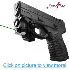 Lasertac Rechargeable Subcompact Green Laser Sight Light Combo for Springfield XD Springfield Xd Subcompact, Springfield Armory, Walther P22, Smith & Wesson Bodyguard, M&p 9mm, Ruger Lc9, Hand Cannon, Sig Sauer, Hand Guns