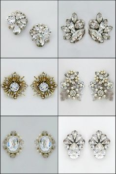 Classic Sparkle, modern vintage or boho chic large stud earring styles, a variety of post earrings to define your style. large posts add glamour won't catch on high collar necklines and if you have an issues with your ear lobes they will be disguised.