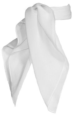 AmazonSmile: Sheer Chiffon Scarf Vintage Style Accessory for Women and Children, White: Clothing