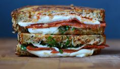 """Sandwich #281–""""National Holiday"""" Pepperoni Pizza Grilled Cheese Sandwich : 300sandwiches - April 12, 2015"""