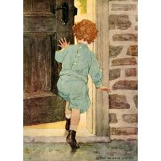 Dream Blocks 1908 Getting home Canvas Art - Jessie Willcox Smith (18 x 24)