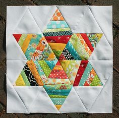 Love this scrappy string star block