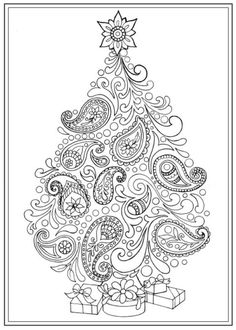 Creative Haven Christmas Trees Coloring Book, Dover Publications