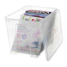 SAMLA Caja con tapa - transparente, 39x28x28 cm/22 l - IKEA