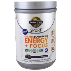 Garden of Life, Sport, Organic Plant-Based Energy   Focus, Pre-Workout, Blackberry, 15.3 oz (432 g)