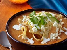 Cacique Savory Tortilla Soup with Crispy Tortillas, Queso Fresco & Crema | Cacique USA