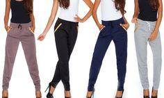 Pantalone con vestibilità comoda ed elastico in vita dallo stile sportivo