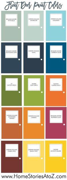 Blue Front Door Colors Valspar 28 New Ideas Front Door Paint Colors, Exterior Paint Colors For House, Painted Front Doors, Paint Colors For Home, Paint Colours, Best Front Door Colors, Front Door Painting, Outdoor Paint Colors, Garage Door Colors