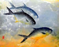 Gyotaku - The Traditional Japanese Art of Painting Fish with Actual Fish - http://www.odditycentral.com/pics/gyotaku-the-traditional-japanese-art-of-painting-fish-with-actual-fish.html