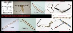 Collarini eseguiti con vari materiali tra cui conchiglie di Dentalium.