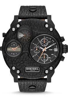 31f190d6e3b3 Diesel DZ7354 Mr. Daddy Biker Leather Black -Limited Edition Diesel Watches  For Men