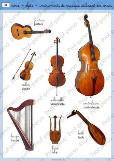 les instruments de musique Music School, Music Class, Music Education, French Language Course, French Language Learning, Ap French, Core French, How To Speak French, Learn French