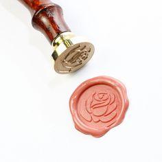 Rose wax seal stamp,  seal stamp, Rose seal stamp