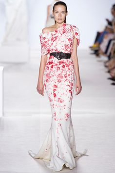 Giambattista Valli Fall 2013 Couture Fashion Show - Elena Todorchuk (CITY)
