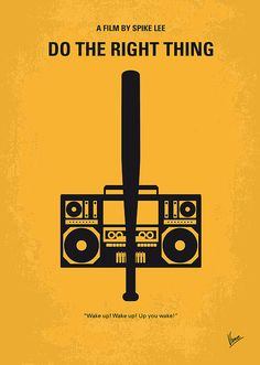 No179 My Do the right thing minimal movie poster Digital Art
