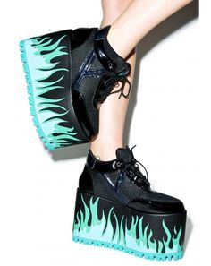 Lo Heat Platform Sneakers Y. Qozmo Lo Heat Platform Sneakers This would be PERFECT for an Ember cosplay from Danny Phantom! Qozmo Lo Heat Platform Sneakers This would be PERFECT for an Ember cosplay from Danny Phantom! Goth Shoes, Women's Shoes, Shoe Boots, Shoes Sneakers, Blue Sneakers, Grunge Shoes, Blue Trainers, Leopard Sneakers, Shoes Style