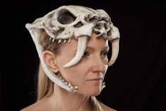 This is our most comfortable and lightweight headdress. It is urethane rubber backed with a soft foam. One size fits most Tiger Skull, Skull Mask, Dog Skull, Horse Skull, Headdress, Headpiece, Character Inspiration, Character Design, Men's Outerwear
