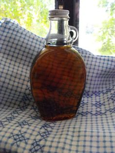 Maple Syrup--you can adjust the amounts of white and brown sugar...as long as it adds up to 2 cups total. Yummo! My kids prefer this to store bought!