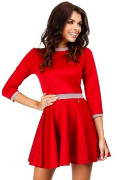 Look at this Red Houndstooth-Trim Skater Dress on today! Special Dresses, Cute Dresses, Skater Dress, Dress Skirt, Little Red Dress, Budget Fashion, Dance Outfits, Fashion Company, Houndstooth