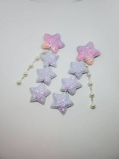 accessories handmade Floral Earring and Barrette Set miniature flower earrings jewelry decora hair clips studs Lolita
