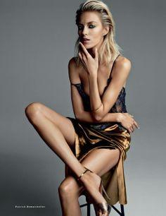 Anja Rubik w kadrach Patricka Demarchelier - Vogue Russia, marzec 2014 #maxmodels